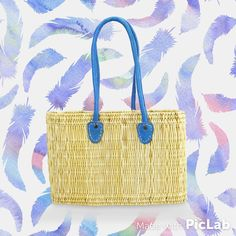 New La Mer market basket from Jeanne Beatrice. What's in a Name? La Mer means the sea in French. Made out of water reeds with sisal handles (all natural!) http://www.amazon.com/dp/B013F5N9PE  #jeannebeatrice #lamer #marketbasket #sea #french #waterreeds #allnatural #natural #feathers