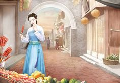 Beautiful Chinese Women, Anime Stories, Ancient Beauty, Fantasy Paintings, Creative Pictures, Illustration Girl, Pictures To Paint, Chinese Art, Asian Art