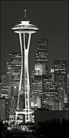 Space Needle in Seattle, Washington. Torres Grey's Anatomy, Places Around The World, Around The Worlds, Dreamland, Washington State, Seattle Washington, Seattle Usa, Hello Seattle, Seattle Skyline