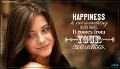 #MondayMantra : #Happiness is not something ready made. It comes from your own #action.