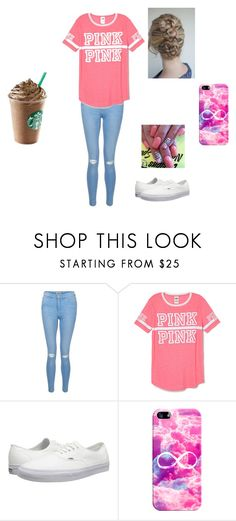 """""""Just your average thursday"""" by theycallmemandy ❤ liked on Polyvore featuring New Look, Victoria's Secret PINK, Vans and Casetify"""