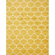Breakwater Bay Easter Compton Trellis Yellow Area Rug Rug Size: Rectangle x Yellow Area Rugs, Navy Blue Area Rug, Beige Area Rugs, Trellis Design, Living Room Carpet, Rug Making, Carpet Runner, Colorful Rugs, Rug Size