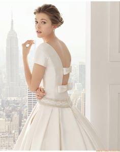 2015 Prinzessin Exklusive Ausgefallene Brautkleider aus Taft mit Schleppe