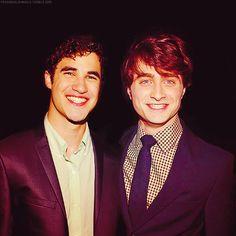 Darren Criss and Daniel Radcliffe   *Squeeee!*
