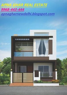 flats in Delhi are available for sale or rent across popular localities like Uttam Nagar, Dwarka, Janakpuri, Vikaspur… Single Floor House Design, Duplex House Plans, Simple House Design, Bungalow House Design, Modern House Plans, Modern House Design, House Outside Design, House Front Design, House Design Pictures
