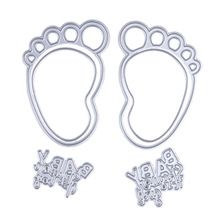 1 Set Metal Feet Circle Letters Embossing Cutting Dies Stencil For DIY Scrapbooking Album Paper Card(China (Mainland))
