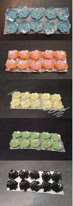 10 Stk. PAILLETTENBLUMEN * Paillette Blume Pailette Pailletten * NEU im Blister in Möbel & Wohnen, Hobby & Künstlerbedarf, Basteln | eBay