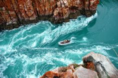 Coral Princess Cruises passengers are taken for a zodiac ride through the Horizontal Waterfalls at Talbot Bay in the Kimberley, Australia Australia Holidays, Australia Tours, Western Australia, Australia Travel, Australia 2017, Queensland Australia, Australian Cruises, Travel Activities, Vacation Trips