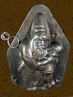 Another Fabulous Antique Anton Reiche Santa Chocolate mold from a collection recently sold online.