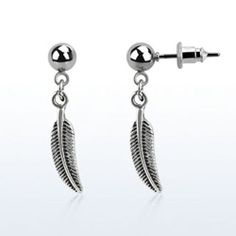 Dangling Silver Bird Wing Helix Jewelry Single Stud Cartilage Feather Wing USA   eBay