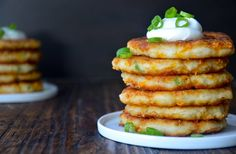 Make the most of Thanksgiving leftovers with a quick and easy recipe for Cheesy Leftover Mashed Potato Pancakes.