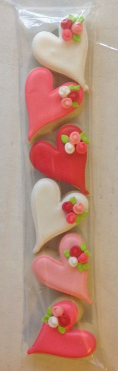 Heart cookies.  I love the itty bitty roses technique.