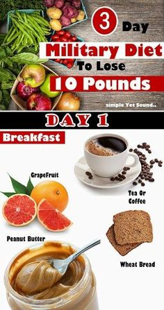 ABCDIY: 3 Day Military Diet To Lose 10 Pounds