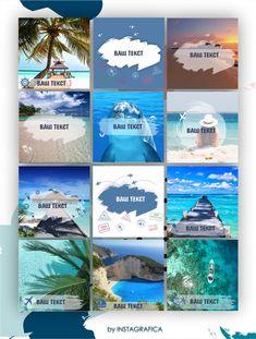 Шаблоны для Инстаграм туризм Шаблон Summer - Инстаграфика Instagram Design, Instagram Feed, Web Banner Design, Travel Design, Holiday Travel, Beach Trip, Winter Holidays, Beautiful Beaches, Tours