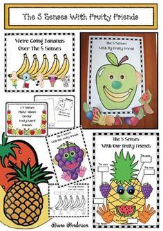 Make studying the 5 senses super-fun by making a fruity-faced friend. Designing one is really quite addicting, so be prepared when your kiddos ask to make another one!Besides apples, there are 15 black & white fruit head options, plus a huge assortment of fruit-themed facial features to depict the 5 senses.