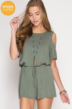 JOIN THE FUN ROMPER - ASH OLIVE