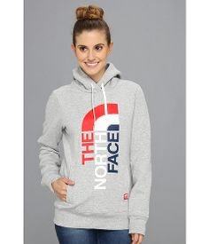 The North Face International Pullover Hoodie USA/Heather Grey/TNF Red - Zappos.com Free Shipping BOTH Ways