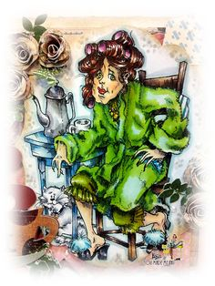 Morning Goddess BETTY digi stamp by RickStdennis on Etsy White Image, Copics, Digital Stamps, Princess Zelda, Black And White, Etsy, Fictional Characters, Art, Black White