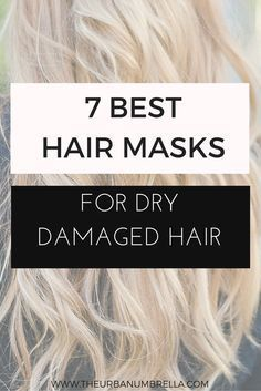 The 7 best hair masks for damaged hair struggling with dry damaged hair get healthy. Sh hair with these 7 best hair masks for damaged hair! Hair Masks For Dry Damaged Hair, Dry Hair Mask, Best Diy Hair Mask, Bleach Damaged Hair, Bleached Hair Repair, Damaged Hair Repair, Products For Damaged Hair, Style Blog, Dry Hair Treatment
