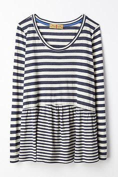 Striped Peplum Tee - anthropologie.com