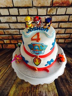 Paw Patrol Cake. White cake with Cola buttercream.