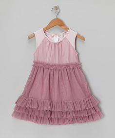 Take a look at this Purple Tulle Ruffle Dress - Toddler & Girls by Paulinie on #zulily today!