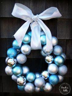 Pinch A Little Save-A-Lot: Christmas Ornament Wreath