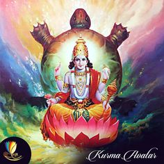 In this avatar, Lord Vishnu took the form of a turtle and helped the Devas to get nectar of immortality from the ocean.
