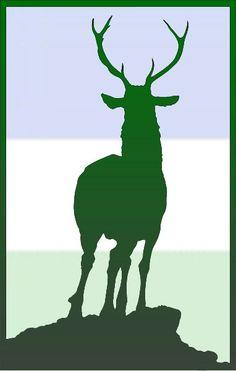 Elk on German flag colours