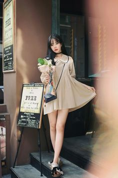 Korean Daily Fashion- Feminine Doll Look                                                                      Photo credits; milkcocoa  ...
