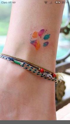 dog paw tattoo Tattoo dog watercolor ink 52 Ideas Great Tattoo ideas for women Trendy Tattoos, Unique Tattoos, New Tattoos, Body Art Tattoos, Small Tattoos, Tatoos, Memory Tattoos, Small Colorful Tattoos, Dainty Tattoos