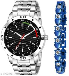 Watches K23 & J17 Pack of 2 Attractive Unique Dial With Unique And Exclusive New Analog Watches For Men & Women Bracelet Strap Material: Stainless Steel Display Type: Analogue Size: Free Size Multipack: 2 Country of Origin: India Sizes Available: Free Size   Catalog Rating: ★4.3 (309)  Catalog Name: Classy Men Watches CatalogID_1941497 C65-SC1232 Code: 082-10601900-606