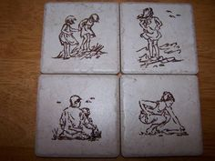 by renointx - Cards and Paper Crafts at Splitcoaststampers Arts And Crafts, Paper Crafts, Tile Crafts, Boy Fishing, Craft Show Ideas, Color Crafts, Tile Coasters, Tile Art, Rock Painting
