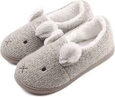 f8d5b6c31a0a Amazon.com  Neeseelily Women Comfort Plush Cozy Home Slippers Animal Non Slip  Indoor Shoes