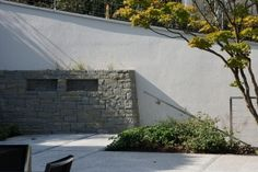 Rohrschacher Sandstein, Fugenklasse I, Aussenfassade und #Trockenmauer im schottischen Verband angeordnet / #drystonewall #masonry
