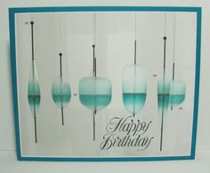 """The """"Pattern Paper"""" on my card is a magazine advertisement for lighting. I adhered to coordinating card, and stamped Birthday sentiment. lower right"""