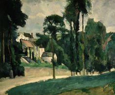 CEZANNE,1875-77 - Le Clos des Mathurins à Pontoise (l'Ermitage)« Il y a des motifs qui demanderaient trois ou quatre mois de travail, qu'on pourrait trouver, car la végétation n'y change pas. Ce sont des oliviers et des pins qui gardent toujours leurs feuilles…. » (CEZANNE à Pissarro, L'Estaque, 2 juillet 1876)