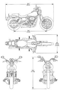 Bike Drawing, Cad Drawing, Drawing Tips, Drawing Tutorials, Harley Davidson, Maya Modeling, Er6n, Motorbike Design, Industrial Design Sketch