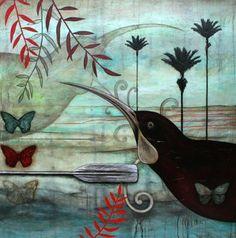 Artfind.co.nz - Artwork - Huias Guardian by KathrynFurniss
