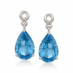 4.80 ct. t.w. Swiss Blue Topaz Earring Jackets in Sterling Silver Ross-Simons. $138.75