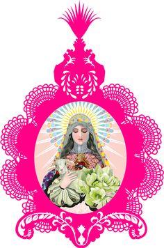 Digital illustration of Maria using Illustrator. Frame, laser cut from perspex. Digital Illustration, Illustrator, Behance, Christmas Ornaments, Holiday Decor, Frame, Home Decor, Behavior, Xmas Ornaments