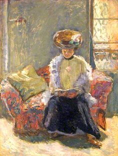 ✉ Biblio Beauties ✉ paintings of women reading letters & books - Pierre Bonnard Pierre Bonnard, Paul Gauguin, Art Aquarelle, Woman Reading, Impressionist Paintings, French Artists, Art History, Book Art, Modern Art