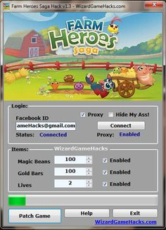 Farm Heroes Saga Hack for It was never so easy to get unlimited Magic Beans and Gold Bars for Farm Heroes Saga. You can use this hack on PC, Android, iOS, iPhone,iPad New Games Apps, Free Online Diary, Button Game, Gaming Tips, Game Resources, Game Calls, Farm Hero Saga, Hack Online, For Facebook