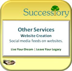 Successiory-Website Services Social media for business feeds on websites.