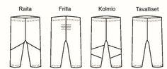 Kaava: Lasten Pomppu leggings