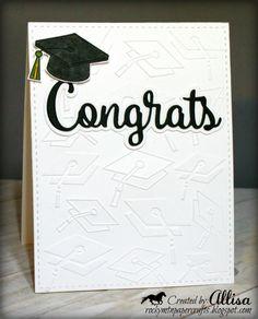 Paper Cards, Diy Cards, Graduation Cards, Graduation Ideas, Congratulations Graduate, Relationship Gifts, Ink Stamps, School Colors, Embossing Folder
