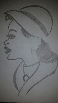 Vintage lady drawn by me