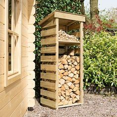 Outdoor Firewood Rack, Firewood Shed, Firewood Storage, Wood Storage Sheds, Storage Rack, Corner Summer House, Bin Store, Pressure Treated Timber, Wood Store