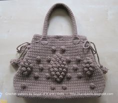 Sayjai amigurumi crochet patterns ~ K and J Dolls / K and J Publishing: Taupe Bag crochet pattern