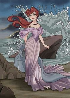 Disney Princess Heroine - Ariel - The Little Mermaid art by Laetitia Bachellez Arte Disney, Disney Fan Art, Disney Style, Disney Love, Disney Magic, Disney Girls, Disney And Dreamworks, Disney Pixar, Disney Characters